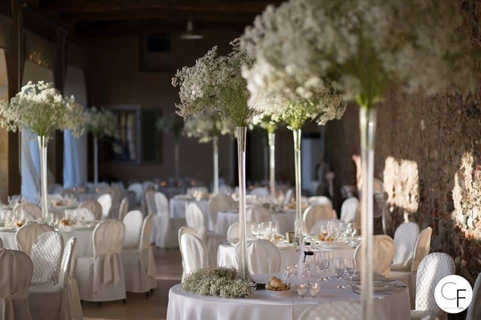 Centrotavola ricevimento Matrimonio Torino