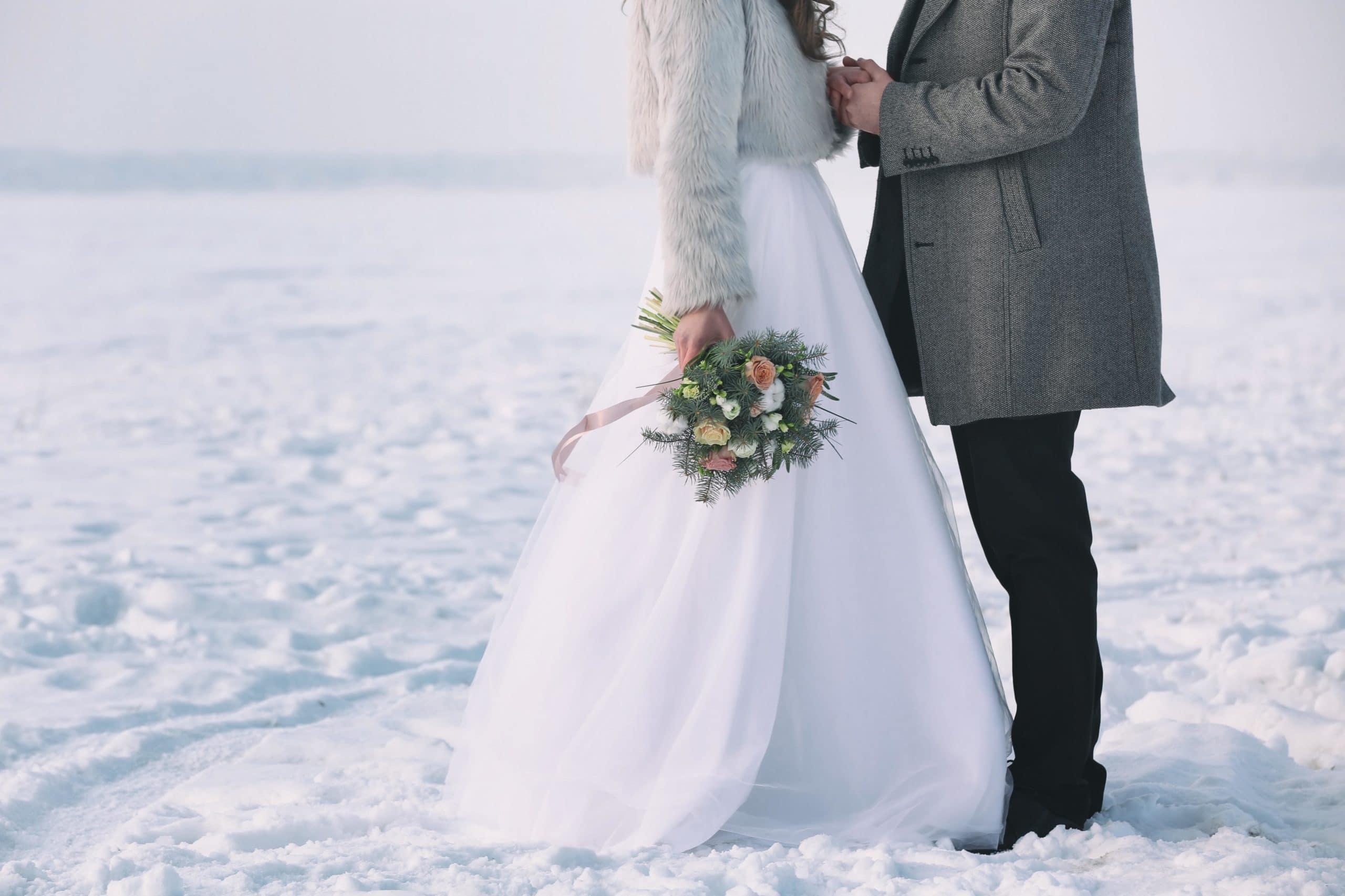 matrimonio in inverno sulla neve