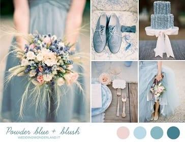 palette cromatica matrimonio