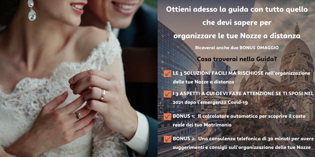Guida per organizzare le proprie nozze a distanza